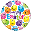 Happy Easter Balloon With Smiley Faces